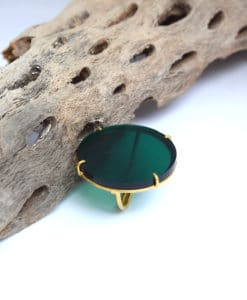 πράσινο δαχτυλίδι ασήμι Artonomous 3