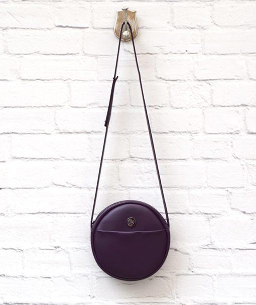 Purple Crossbody Bag Vegan Vasiliki Bellou Artonomous 1