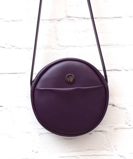 Purple Crossbody Bag Vegan Vasiliki Bellou Artonomous 2