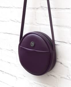 Purple Crossbody Bag Vegan Vasiliki Bellou Artonomous 3