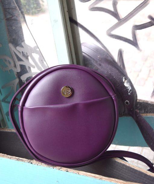 Purple Crossbody Bag Vegan Vasiliki Bellou Artonomous 7
