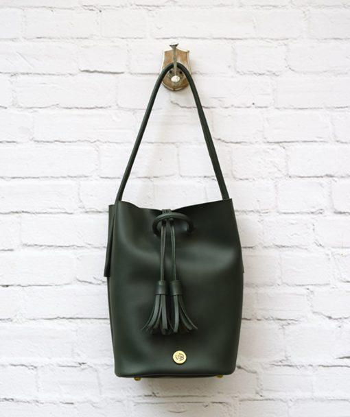 Shoulder Bag Olive Green Vasilikibellou Artonomous 1