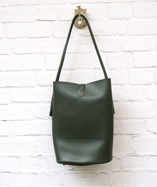 Shoulder Bag Olive Green Vasilikibellou Artonomous 4