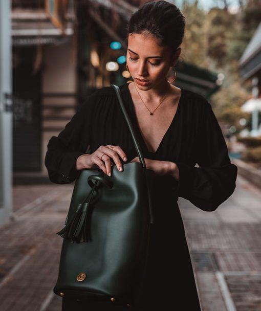 Shoulder Bag Olive Green Vasilikibellou Artonomous 5
