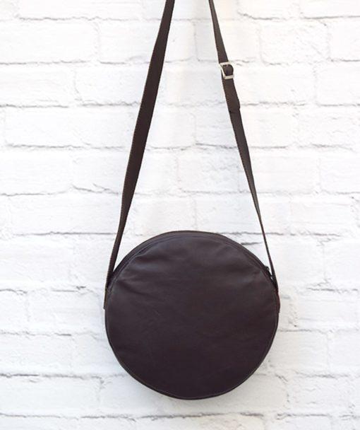 στρόγγυλη τσάντα κέντημα μοβ Artonomous 4