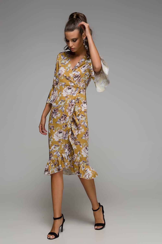 955d3fe51bfb Φόρεμα κρουαζέ φλοράλ - ARTonomous    Style    Design