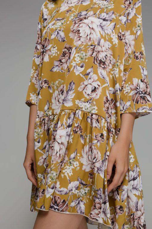 κίτρινο φόρεμα Disu Artonomous 13