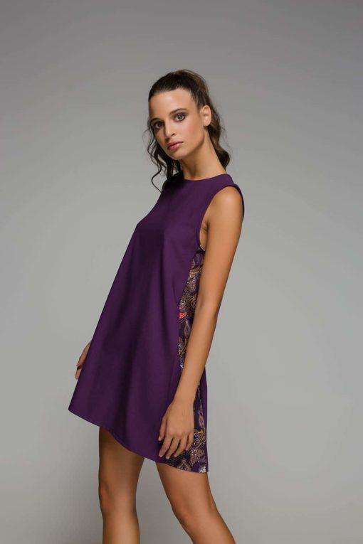 κοντό μοβ φόρεμα Disu Artonomous 1