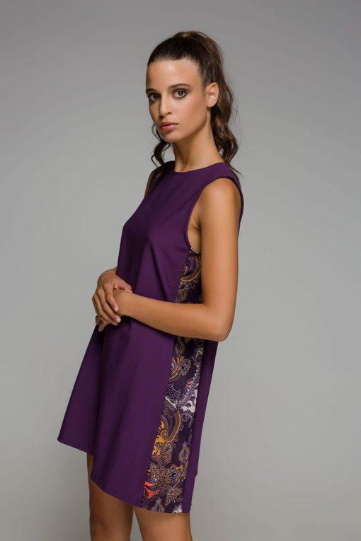 κοντό μοβ φόρεμα Disu Artonomous 2