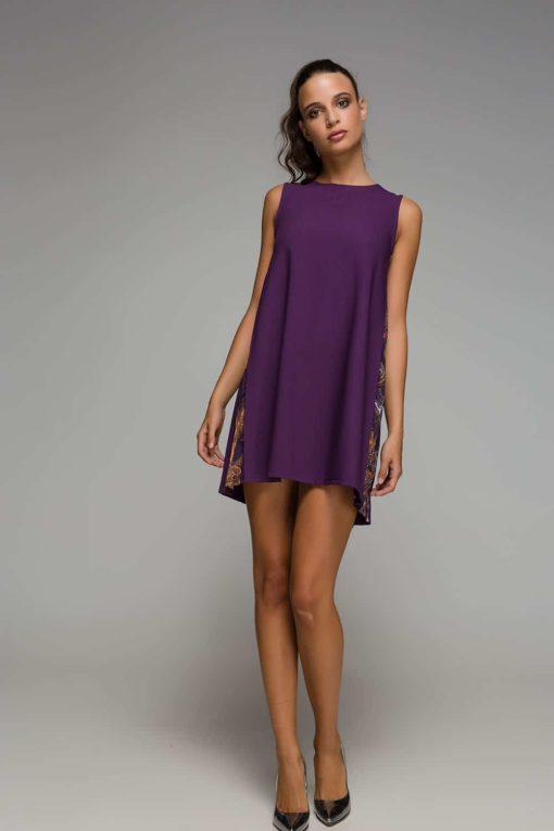 κοντό μοβ φόρεμα Disu Artonomous 5