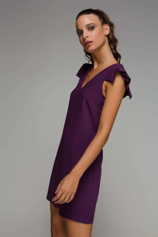 μοβ αμάνικο φόρεμα Disi Artonomous 1
