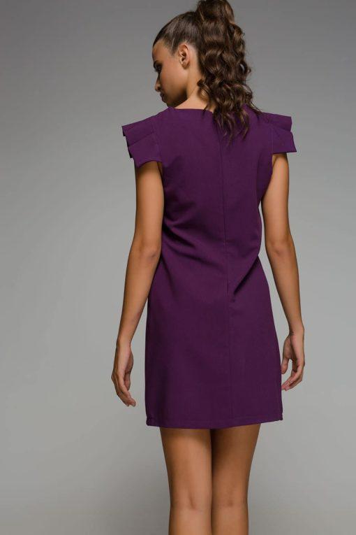 μοβ αμάνικο φόρεμα Disi Artonomous 2