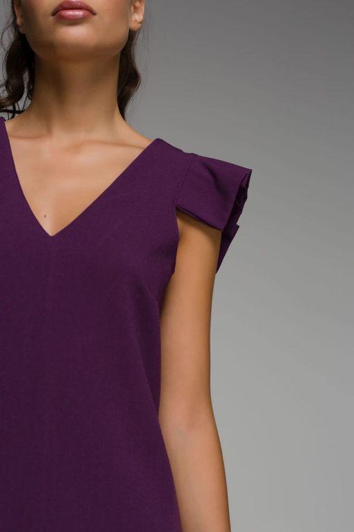 μοβ αμάνικο φόρεμα Disi Artonomous 3
