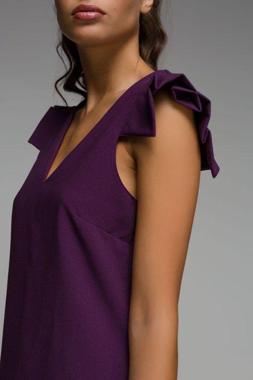 μοβ αμάνικο φόρεμα Disi Artonomous 4