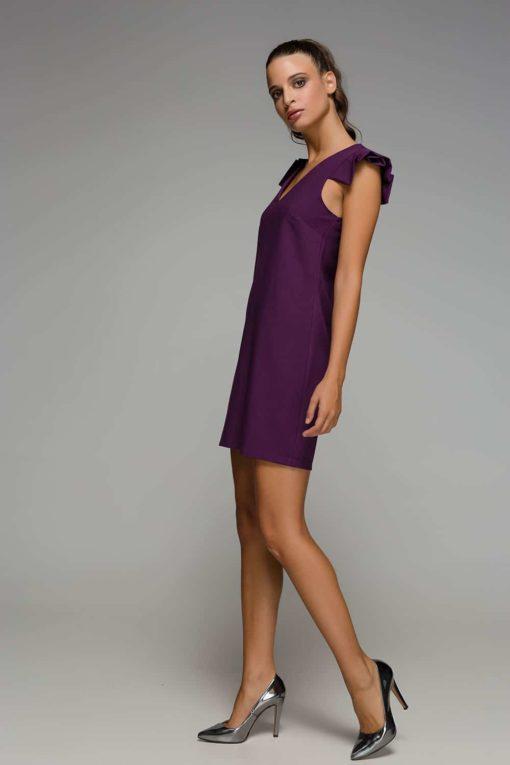 μοβ αμάνικο φόρεμα Disi Artonomous 5