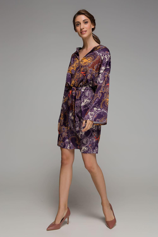 Φόρεμα με μοβ τυπώματα - ARTonomous    Style    Design 3a3d5943271