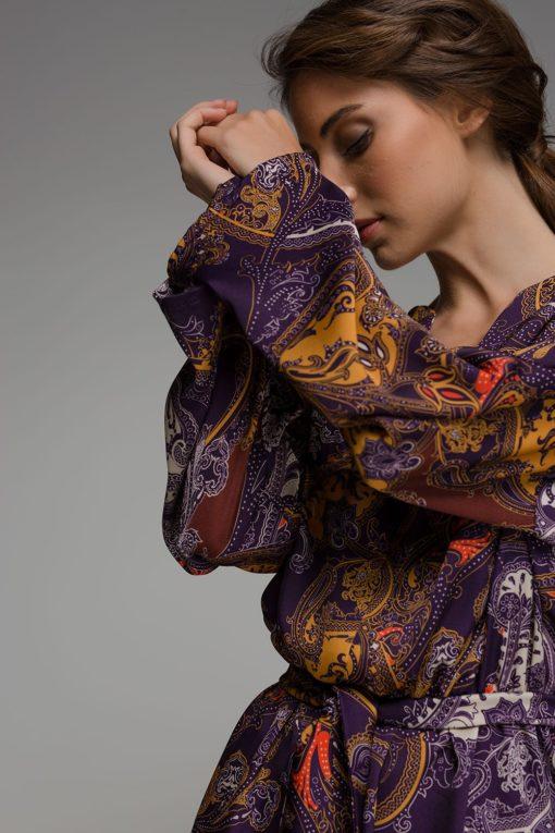 μοβ φόρεμα Disu Artonomous 2