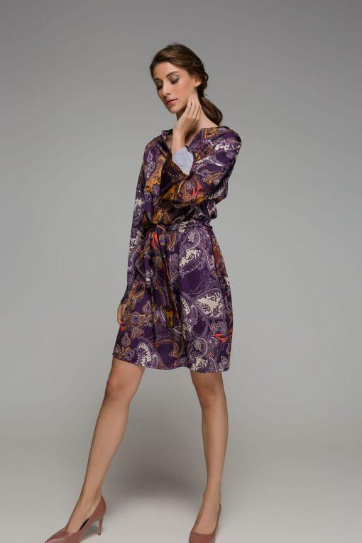μοβ φόρεμα Disu Artonomous 4