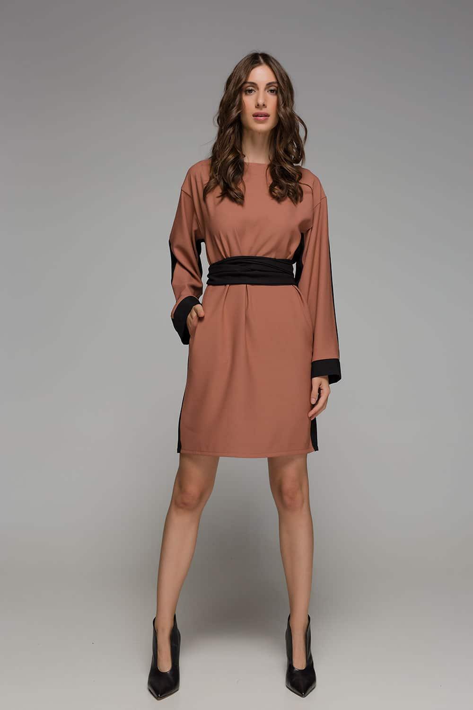 a4fb328f7b5b Φόρεμα δίχρωμο nude - μαύρο - ARTonomous    Style    Design