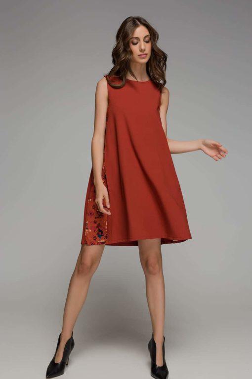 Orange Dress Mini Disu Artonomous 1