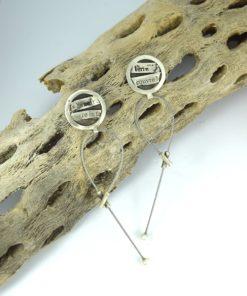 Ασημένια σκουλαρίκια με στίχους του Baudelaire 0025614a (1)