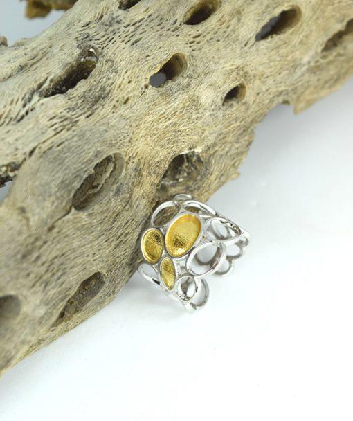 Δαχτυλίδι ασημένιο με επιχρύσωμα 00256230a (1)