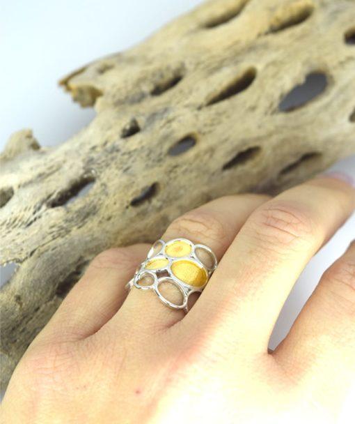 Δαχτυλίδι ασημένιο με επιχρύσωμα 00256230a (2)