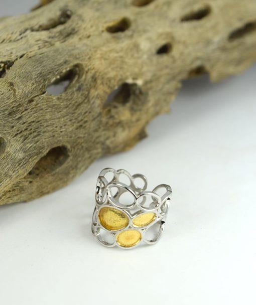 Δαχτυλίδι ασημένιο με επιχρύσωμα 00256230a (3)