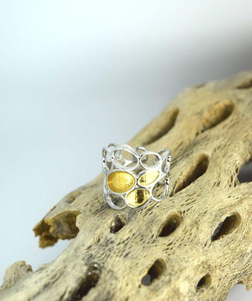 Δαχτυλίδι ασημένιο με επιχρύσωμα 00256230a (4)