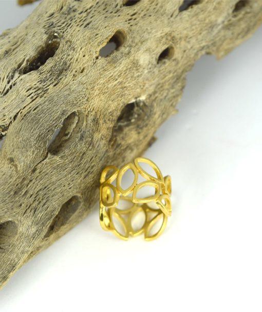 Δαχτυλίδι επίχρυσο με φύλλα 00256227a (1)