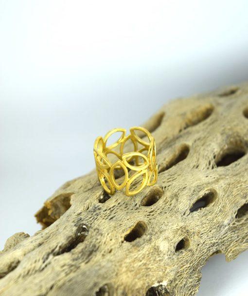 Δαχτυλίδι επίχρυσο με φύλλα 00256227a (3)