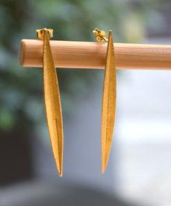 Gold Plated Earrings A Handmade Artonomous 1