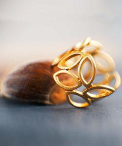 Gold Plated Silver Ring Artonomous 2