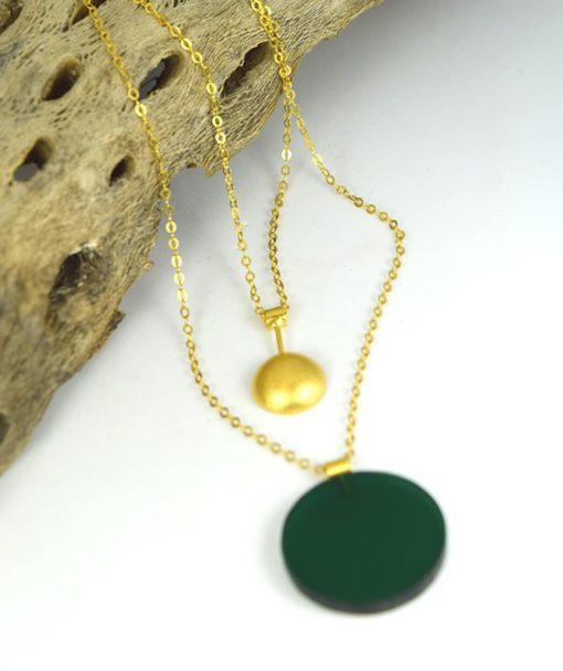 Κρεμαστό μακρύ με Plexiglas Πράσινο 00256226a (2)