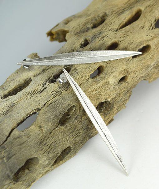Σκουλαρίκια ασημένια Φύλλα 00256233a (2)