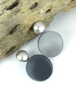 Σκουλαρίκια με Plexiglas Γκρι 0025616a (1)