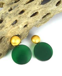 Σκουλαρίκια με Plexiglas Πράσινο 0025615a (1)