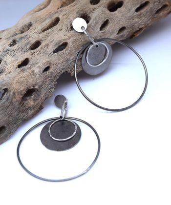 Σκουλαρίκια με ασύμμετρους κύκλους 00256260a