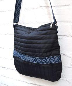 γυναικεία χιαστί τσάντα μαύρη Artonomous 3