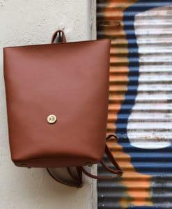 Backpack Brown Vasiliki Bellou Artonomous 1