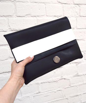 Τσάντα χειρός φάκελος - Ασπρόμαυρο