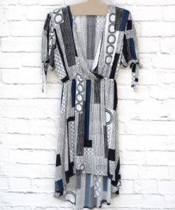 μπλε φόρεμα εμπριμέ Artonomous 1