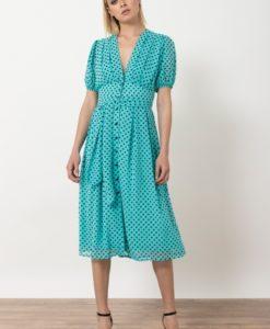 Πράσινο πουά φόρεμα Helmi Artonomous 2