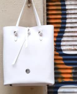 Shopper λευκό Vasiliki Bellou Artonomous 3