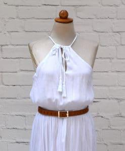 λευκό φόρεμα αρχαιοελληνικό Artonomous 1