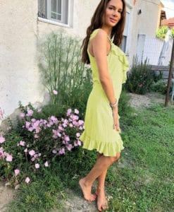 Polka Pot Dress Yellow Artonomous 1