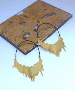 επίχρυσα σκουλαρίκια Αρετή Σταθοπούλου Artonomous 1