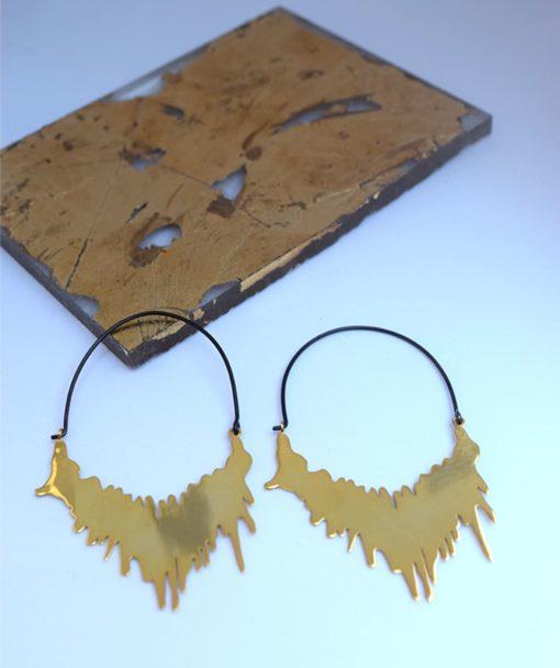 επίχρυσα σκουλαρίκια Αρετή Σταθοπούλου Artonomous 2