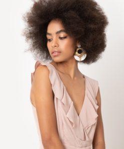 φόρεμα με βολάν ροζ Artonomous 1