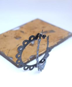 Hoop Earrings Black Plated Artonomous 2